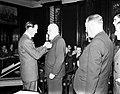 Prins Bernhard reikt in Amsterdam zilveren anjers uit. Prof. dr. P.A. Kohnstamm…, Bestanddeelnr 904-6326.jpg