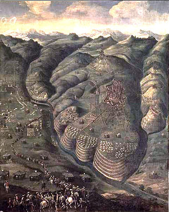 Siege of Privas - Siège de Privas, by Nicolas Prévost, 1640. Château de Richelieu.