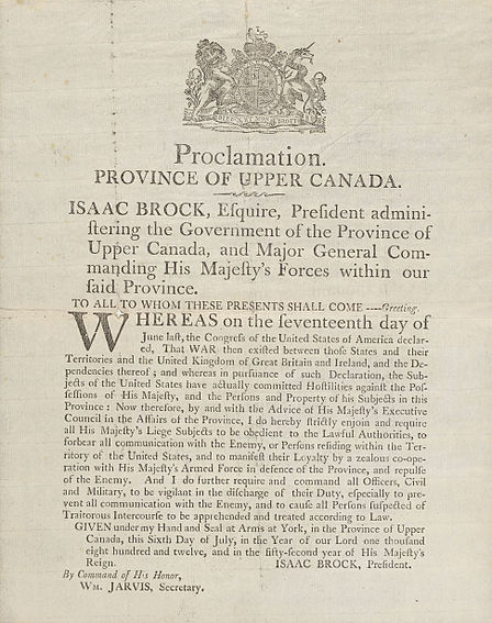 File:Proclamation Province of Upper Canada by Isaac Brock.jpg