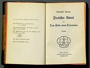 Professor Unrat - Image: Professor Unrat Titel
