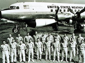 Eyewall replacement cycle - 1966 photo of the crew and personnel of Project Stormfury.
