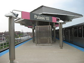 image illustrative de l'article Pulaski (ligne rose CTA)