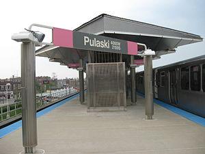 Pulaski station (CTA Pink Line) - Image: Pulaski CTA Pink Line