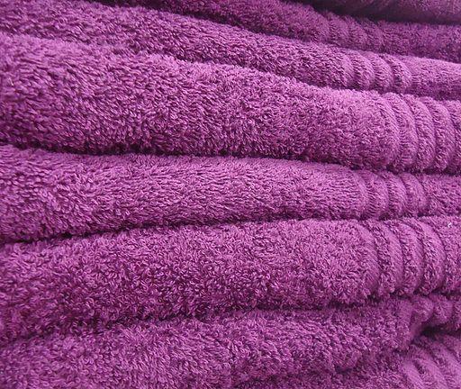 Purple towels saying something