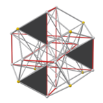 Pyritohedral excavated dodecahedron, face gray.png