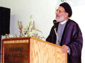 Mortada Al-Qazwini - Ayatollah Mortada Al-Qazwini lecturing at Assadiq Foundation