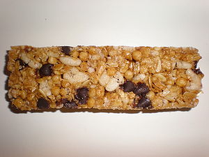 A Quaker Chewy Granola Bar, chocolate chip flavor.