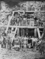 Queensland State Archives 3386 Drilling the longest tunnel No 15 during the Cairns to Kuranda railway construction c 1890.png