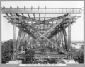 Queensland State Archives 3475 South approach end sway frame of steel span No 5 Brisbane 17 June 1937.png