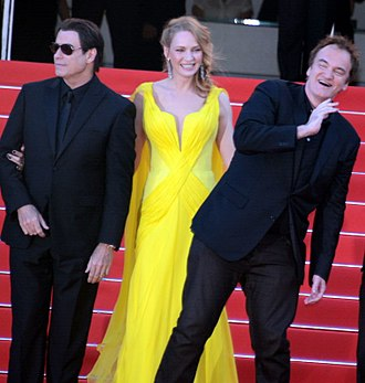 Pulp Fiction - John Travolta, Uma Thurman and Quentin Tarantino at the 2014 Cannes Film Festival, for the film's 20th anniversary tribute.