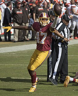 Quinton Dunbar with ball, October 2, 2016 (cropped)