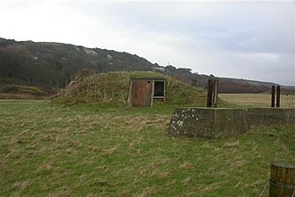 St Lawrence, Isle of Wight - RAF St. Lawrence. Remains of a buried reserve CH radar site
