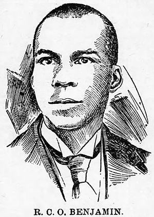 R. C. O. Benjamin - Benjamin from his 1900 obituary in the Colored American