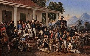 Raden Saleh - The Arrest of Pangeran Diponegoro, 1857, Merdeka Palace Museum, Jakarta.