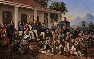 <i>The Arrest of Pangeran Diponegoro</i> painting by Raden Saleh