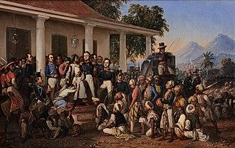 Diponegoro - The Arrest of Pangeran Diponegoro by Raden Saleh