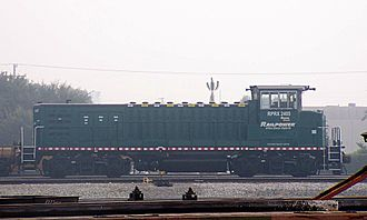 Hybrid train - A Green Goat hybrid shunting locomotive