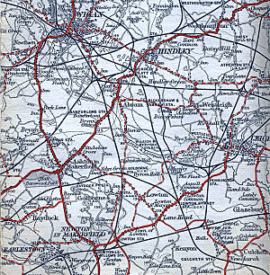 Daisy Hill railway station - 1911 Map showing the station's location (top right)