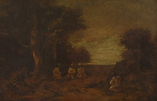 Ralph Albert Blakelock - Moonlit Landscape with Indian - 1932.297 - Yale University Art Gallery