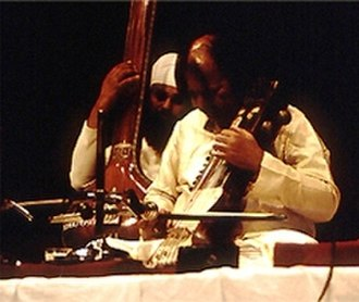 Ram Narayan - Narayan performing in New Delhi in the late 1980s.