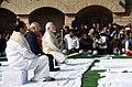 Ram Nath Kovind, the Vice President, Shri M. Venkaiah Naidu and the Prime Minister, Shri Narendra Modi attend the Sarva Dharma Prarthana Sabha, at the Samadhi of Mahatma Gandhi on the occasion of Martyrs' Day, at Rajghat.jpg