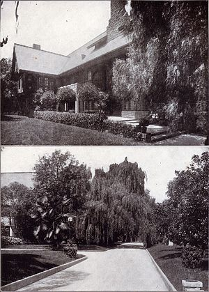 Ramsay-Durfee Estate - Estate in 1913 showing the house and entry drive