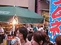 Ramune stall and flag by jetalone in Azabu Juban, Tokyo.jpg