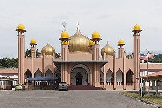 Ranau District - The front façade of the Ar-Rahman Mosque in Ranau Town.