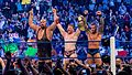 Randy Orton, The Big Show and Sheamus v Daniel Bryan, Mark Henry and Cody Rhodes at Smackdown taping in London 17th April 2012 (7282776556).jpg