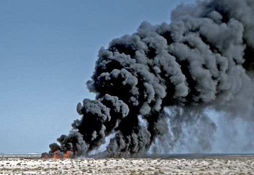 Ras Tanura Oil Burn Off-1959