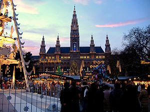 Rathaus [Viena] em Dezembro