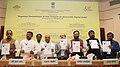 Ravi Shankar Prasad along with the Union Minister for Social Justice and Empowerment, Shri Thaawar Chand Gehlot, the Union Minister for Human Resource Development, Shri Prakash Javadekar.jpg