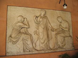 Pietro Tenerani - Pietro Tenerani: Monument to Clelia Severini (1825), San Lorenzo in Lucina, Roma