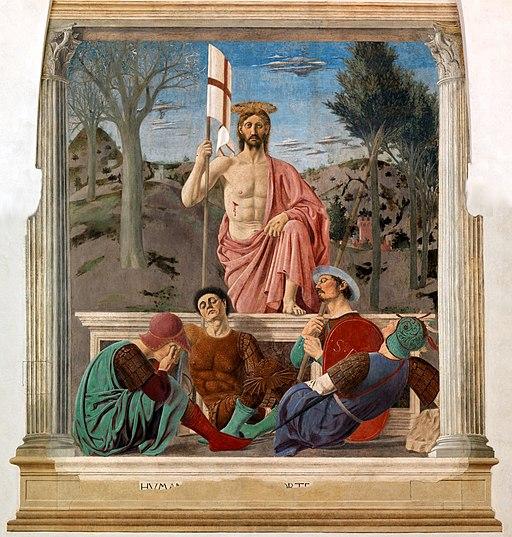 Resurrezione Piero della Francesca, post restauro