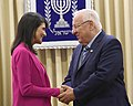 Reuven Rivlin, the President of the State of Israel, held a working meeting with United States Ambassador to the UN Nikki Haley (1560).jpg