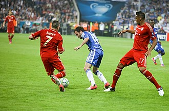 Jérôme Boateng - Boateng (furthest right) playing for Bayern in the 2012 UEFA Champions League Final