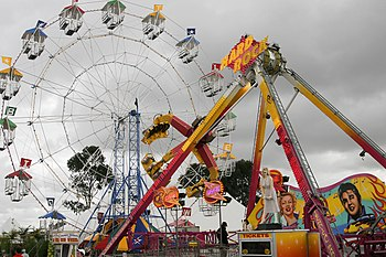 An assortment of rides at the Royal Melbourne ...