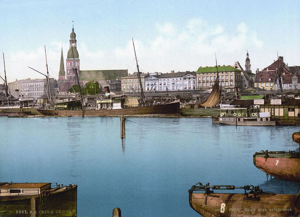 Quai de Riga en 1890 alors dans l'Empire russe.