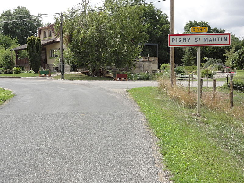 Rigny-Saint-Martin (Meuse) city limit sign