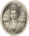 Rime d'Isabella Andreini 1603, frontispiece, engraved portrait - Gallica 2014.png