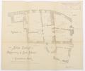 Ritning på Schloss Hallwyl, första våningen - Hallwylska museet - 102188.tif