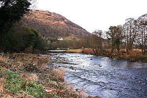 River Stinchar - The River Stinchar at Knockdolian, South Ayrshire.