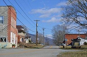 Mendota, Virginia - Mendota's main street