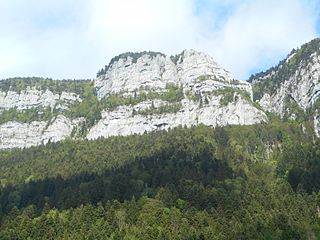 Roc de Gleisin mountain in France