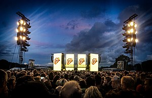 No Filter Tour (The Rolling Stones tour) - Stage at Hamburger Stadtpark shortly before the concert.