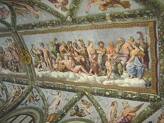 Agostino Chigi - Details of the decorations of the Loggia di Psiche in the Villa Farnesina, Agostino Chigi's villa in Rome.