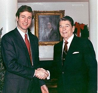 George Allen (American politician) - George Allen and President Ronald Reagan