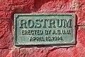 Rostrum Rock at The University of Utah - Plaque.JPG