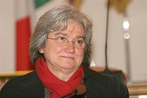 Italian politician Rosy Bindi