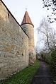 Rothenburg ob der Tauber, Stadtmauer, Schwefelturm, von Süden, 002.jpg